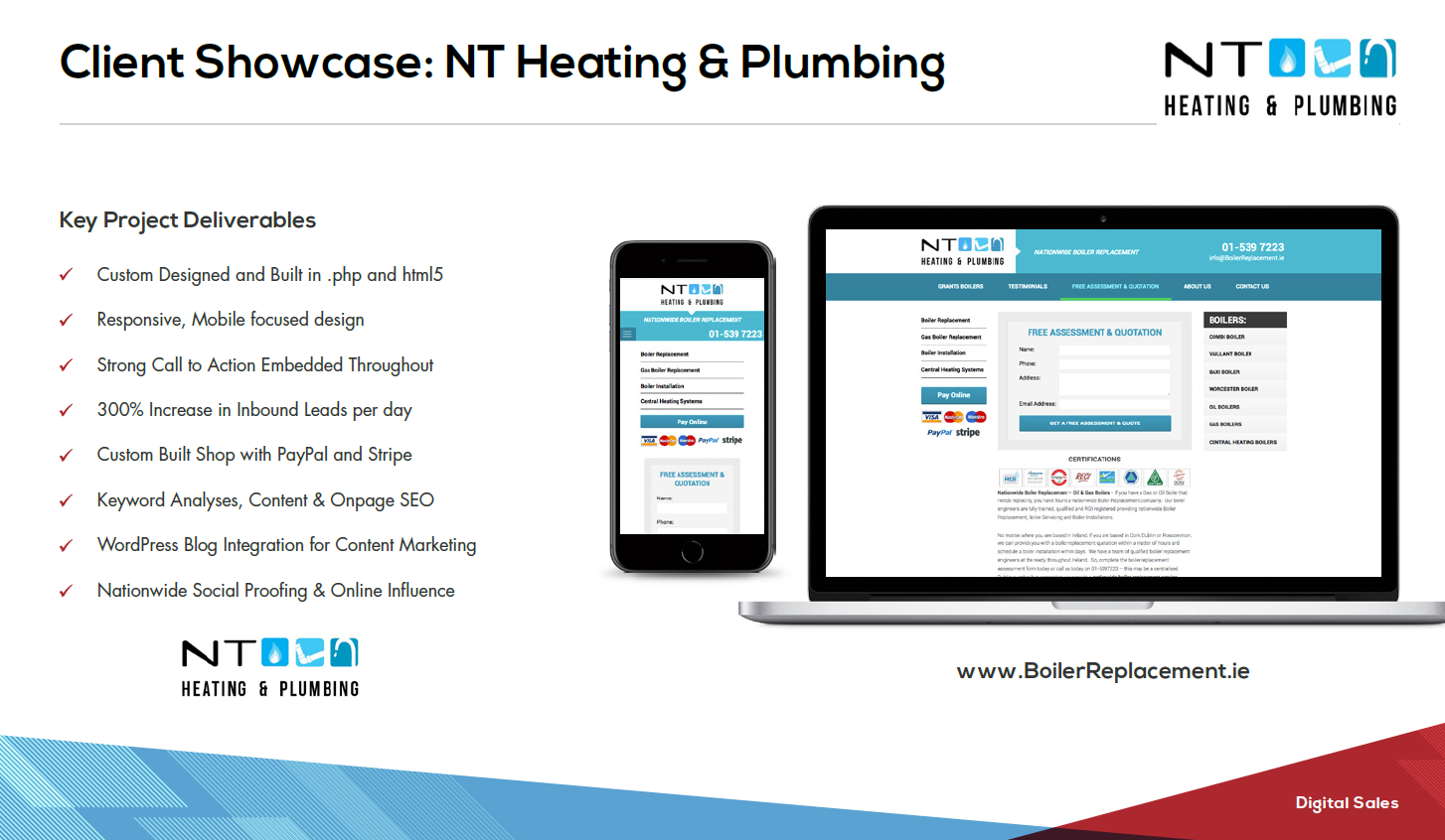 NT Heating and Plumbing Website Case Study